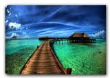Serene Sea Walk. Landscape/Scenic Canvas. Sizes: A3/A2/A1 (00334)